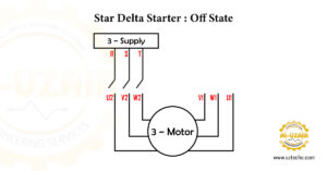 Figure 4.Star delta starter is OFF state